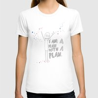 a man with a plan  Womens Fitted Tee White SMALL