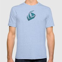 Poseidon Goddess of the Sea Mens Fitted Tee Tri-Blue SMALL