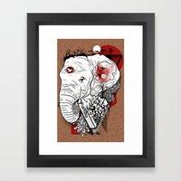 Melting Framed Art Print