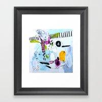 Your Peonies My Phone Nu… Framed Art Print