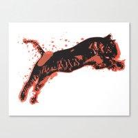 Splatter Tiger Canvas Print