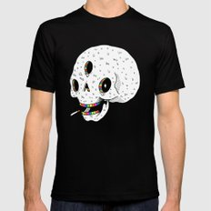Drippy Space Skull Mens Fitted Tee Black SMALL