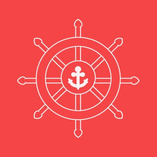 Nautical Wheel Art Print