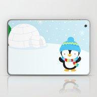 Cute Penguin Boy #1 Laptop & iPad Skin