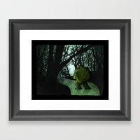 Swamp Creature Framed Art Print