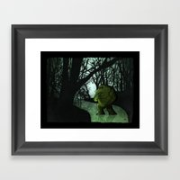 Swamp Creature Framed Art Print