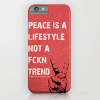 iPhone & iPod Case featuring Peace Out!  by IamDesigner