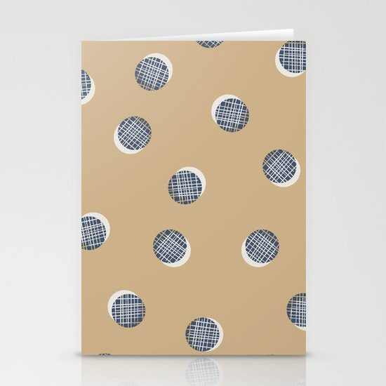 Mixed Dots - in Cocoa Stationery Card