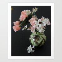 Small Pot Of Flowers Art Print