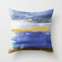 PAINTED WITH THE BLUES Throw Pillow