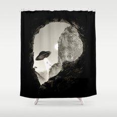 Alien´s Head Shower Curtain
