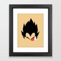 Saiyan Prince (Vegeta) Framed Art Print