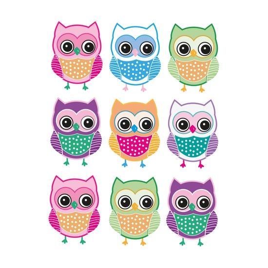 Cute Owls Art Print