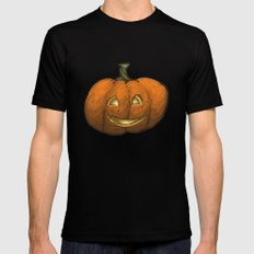 2016 Halloween Pumpkin Mens Fitted Tee Black SMALL