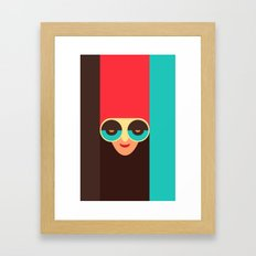 Pop girl Framed Art Print