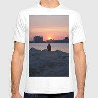 Summer Sun Mens Fitted Tee White SMALL