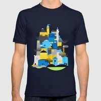 Magic Town Mens Fitted Tee Navy SMALL