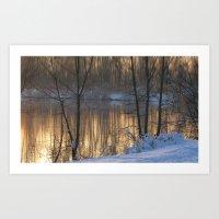 Lake Impressions 1 Art Print