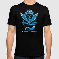 Team Blue Mystic SMALL Black Mens Fitted Tee