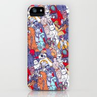 Space Toons In Color iPhone (5, 5s) Slim Case