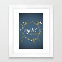 Cycle! Framed Art Print