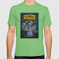 The Werewolf of Wall Street Mens Fitted Tee Grass SMALL