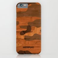 Modern Woodgrain Camouflage / Woodland Print iPhone 6 Slim Case