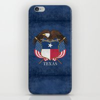 Texas Flag And Eagle Cre… iPhone & iPod Skin