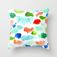 Watercolor Swatch Pattern Throw Pillow