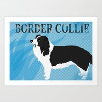Border Collie Dog Illust… Art Print
