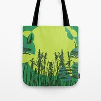 Grassy Sunset. Tote Bag