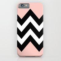 DOUBLE COLORBLOCK CHEVRON {PEACH/PEACH} iPhone 6 Slim Case