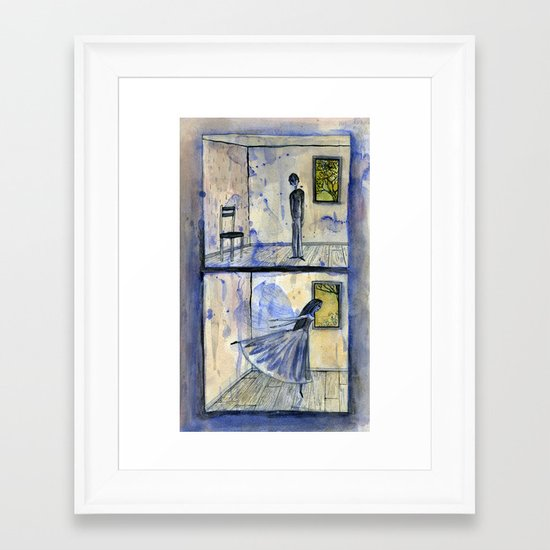 they were very lonely and had never met Framed Art Print