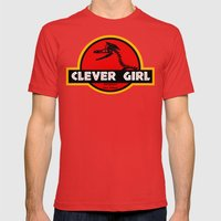 Clever Girl Mens Fitted Tee Red SMALL