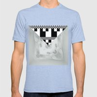 waves/grid #1 Mens Fitted Tee Tri-Blue SMALL