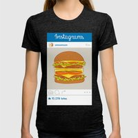 Instagrams Womens Fitted Tee Tri-Black SMALL