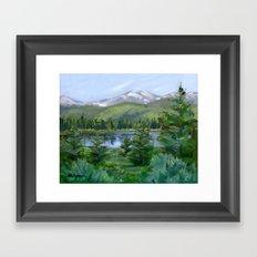 Echo Mountain Lake Framed Art Print