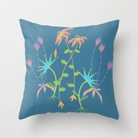 Bouquet for Mom Throw Pillow