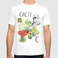 C is for Cacti Mens Fitted Tee White SMALL