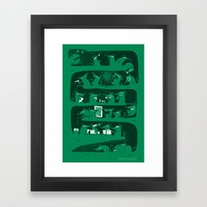 There's a party in my snake Framed Art Print