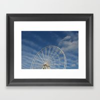 End of the Ferris Wheel Framed Art Print