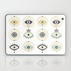 Evil Eye Collection on White Laptop & iPad Skin