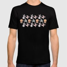 sticker monster pattern 6 Black Mens Fitted Tee SMALL