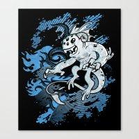 Interdimensional Icthy-demon Canvas Print