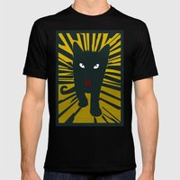 Evil Cat Mens Fitted Tee Black SMALL