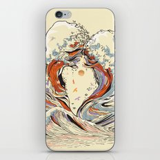 The Wave of Love iPhone & iPod Skin