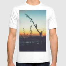 Away from the city SMALL White Mens Fitted Tee