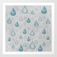 Spring Showers Art Print