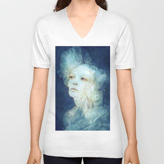 Net V-neck T-shirt