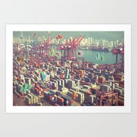 Pier Tetris Art Print